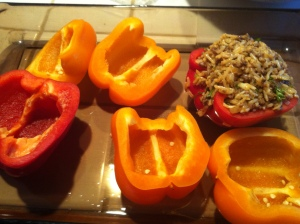 Stuffing Peppers