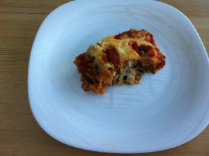 GF spinach lasagna